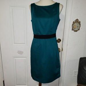 Ann Taylor Blue Sleeveless Midi Dress 8